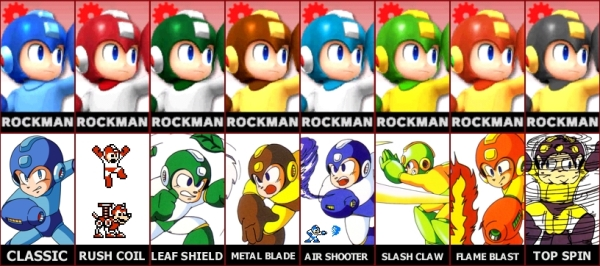 Mega Man Alternate Colors