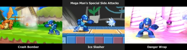 Mega Man's Special Side Attacks