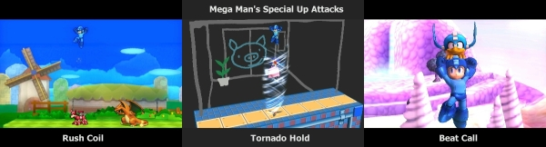 Mega Man's Special Up Attacks
