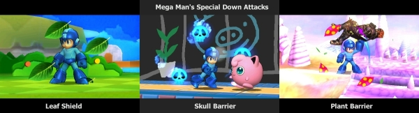 Mega Man's Special Down Attacks